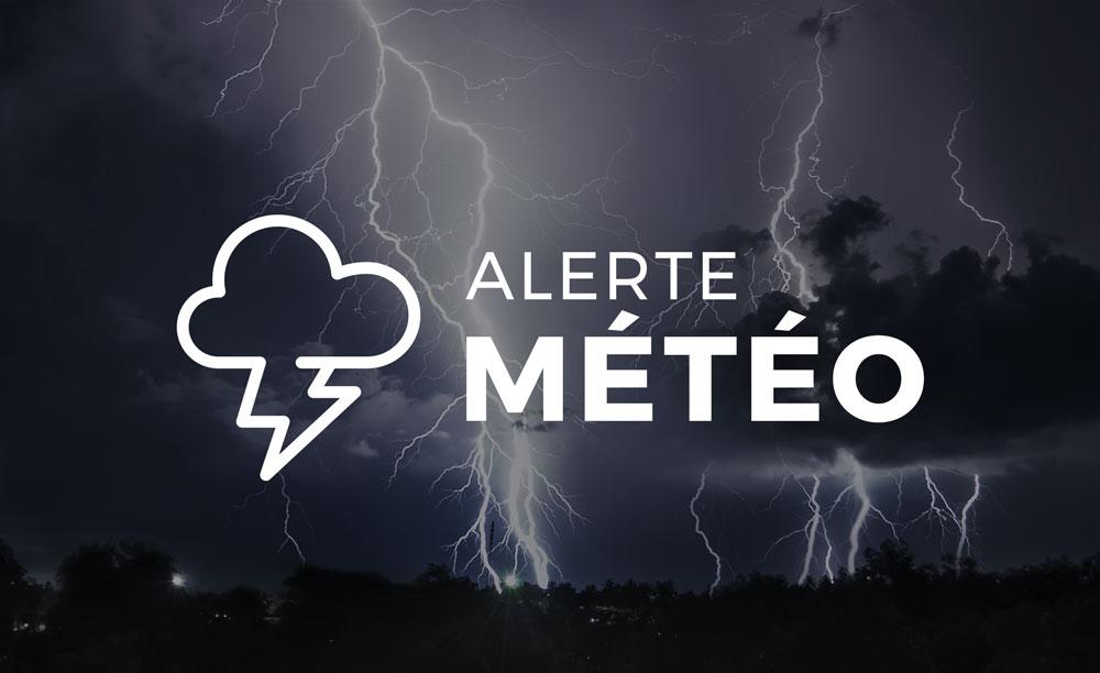 Alerte d'orages violents pour ce soir dans les secteurs de Vaudreuil, Soulanges et Valleyfield – Beauharnois